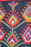Stary tradycyjny ornamentacyjny dywan w górę widoku zdjęcie stock