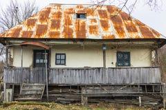 Stary tradycyjny romanian dom Obrazy Royalty Free