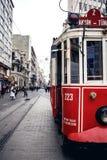 Stary tramwaj przy Istiklal aleją Fotografia Stock