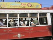 Stary tramwaj w Lisbon, Portugal Zdjęcie Royalty Free