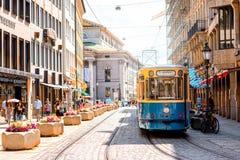 Stary tramwaj w Monachium Zdjęcie Royalty Free