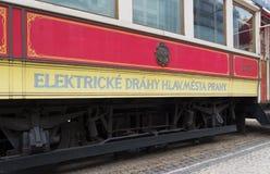 Stary tramwaj w Prague zdjęcie royalty free