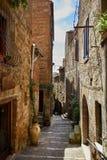 Stary Tuscany miasteczko Włochy pojęcie Obrazy Stock