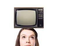 stary tv Zdjęcie Stock