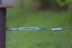 Stary używać srebny mały turnbuckle Zdjęcie Stock