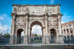 Stary łuk w Rzym Zdjęcia Stock