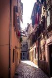 stary ulicą miasta Zdjęcia Royalty Free