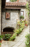 stary uliczny Tuscany obrazy stock
