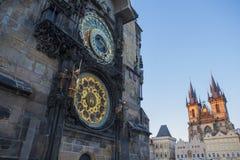 Stary urząd miasta, Astronomiczny zegar Obrazy Royalty Free