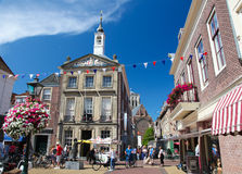 Stary urząd miasta melina Briel lub Brielle w holandiach Zdjęcie Stock