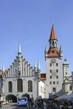 Stary urząd miasta przy Marienplatz kwadratem w Monachium, Bavaria Obrazy Royalty Free
