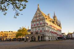 Stary urząd miasta w Gouda holandie obraz stock