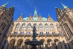 Urząd Miasta, Hamburg Zdjęcia Royalty Free