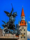 Stary urząd miasta w Marienplatz Monachium, Niemcy - Bavaria - Obraz Royalty Free