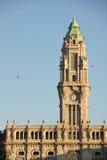 Stary urzędu miasta wierza. Porto. Portugalia Zdjęcie Stock