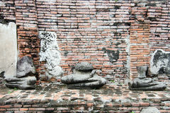 Stary uszkadzający Buddha Zdjęcie Royalty Free