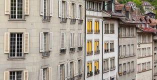 Stary utrzymanie mieści fasady Bern Obraz Royalty Free