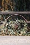 stary wóz koło obrazy stock