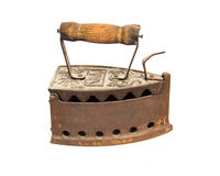 Stary węgla drzewnego żelazo fotografia stock
