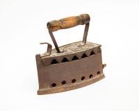 Stary węgla drzewnego żelazo fotografia royalty free