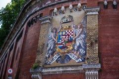 Stary Węgry żakiet ręki na ścianie Fotografia Stock