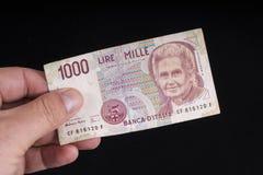 Stary Włoski banknot zdjęcie stock