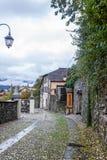 Stary Włoski podwórze w San Giulio obraz royalty free