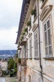 Stary Włoski podwórze w San Giulio fotografia stock