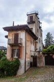 Stary Włoski podwórze w San Giulio fotografia royalty free