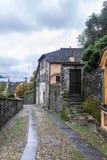 Stary Włoski podwórze w San Giulio zdjęcie royalty free