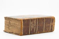 Stary włoski słownik na białym tle Fotografia Stock