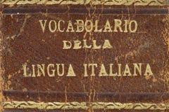 Stary włoski słownika zbliżenie Obraz Royalty Free