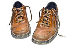stary wędrówki butów. Zdjęcie Stock