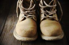 stary wędrówki butów Obraz Royalty Free