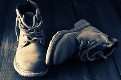 stary wędrówki butów Fotografia Stock