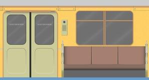 Stary wagonu metru wnętrze royalty ilustracja