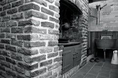 Stary watermill wnętrze Zdjęcia Stock