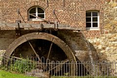 Stary waterwheel Fotografia Royalty Free