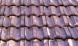 stary weathred ceramiczny dach Zdjęcie Royalty Free