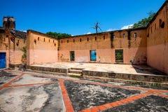 Stary więźniarski podwórze na Więźniarskiej wyspie obrazy stock
