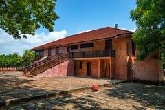 Stary więźniarski podwórze na Więźniarskiej wyspie zdjęcie stock