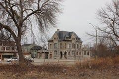 Stary więzienie w Niagara i gmach sądu Spadamy Kanada Obraz Stock
