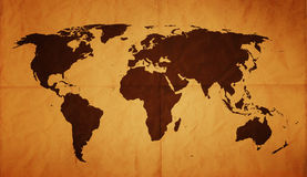 Stary Świat Mapa - XL Zdjęcia Royalty Free