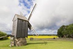 Stary wiatraczek w Angla dziedzictwa kultury centrum Obrazy Stock