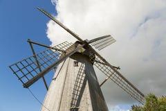 Stary wiatraczek w Angla dziedzictwa kultury centrum, Estonia Obraz Stock