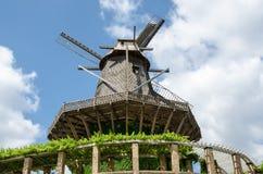 Stary wiatraczek w Sanssouci parku, Potsdam, Niemcy, Europa Zdjęcie Stock