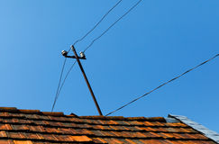stary wieśniak dach domu Obrazy Royalty Free
