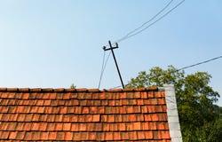stary wieśniak dach domu Obraz Stock