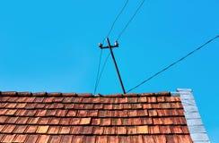 stary wieśniak dach domu Obraz Royalty Free