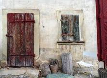 Stary wieśniaka domu przód Zdjęcia Royalty Free